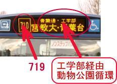 it is written on the bus